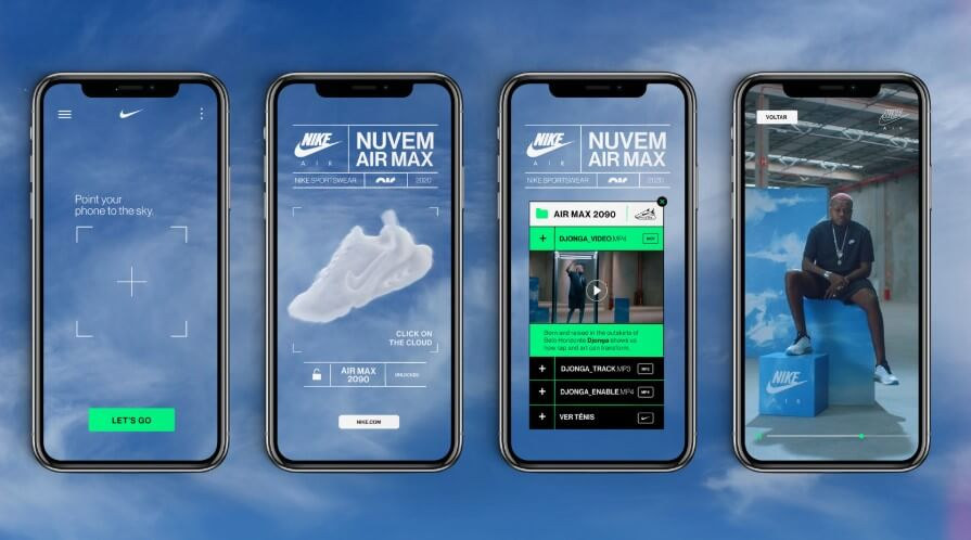 interactive product visualization of Nike's campaign