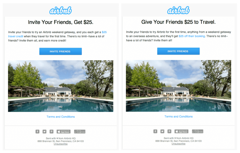 airbnb give-and-get marketing strategy