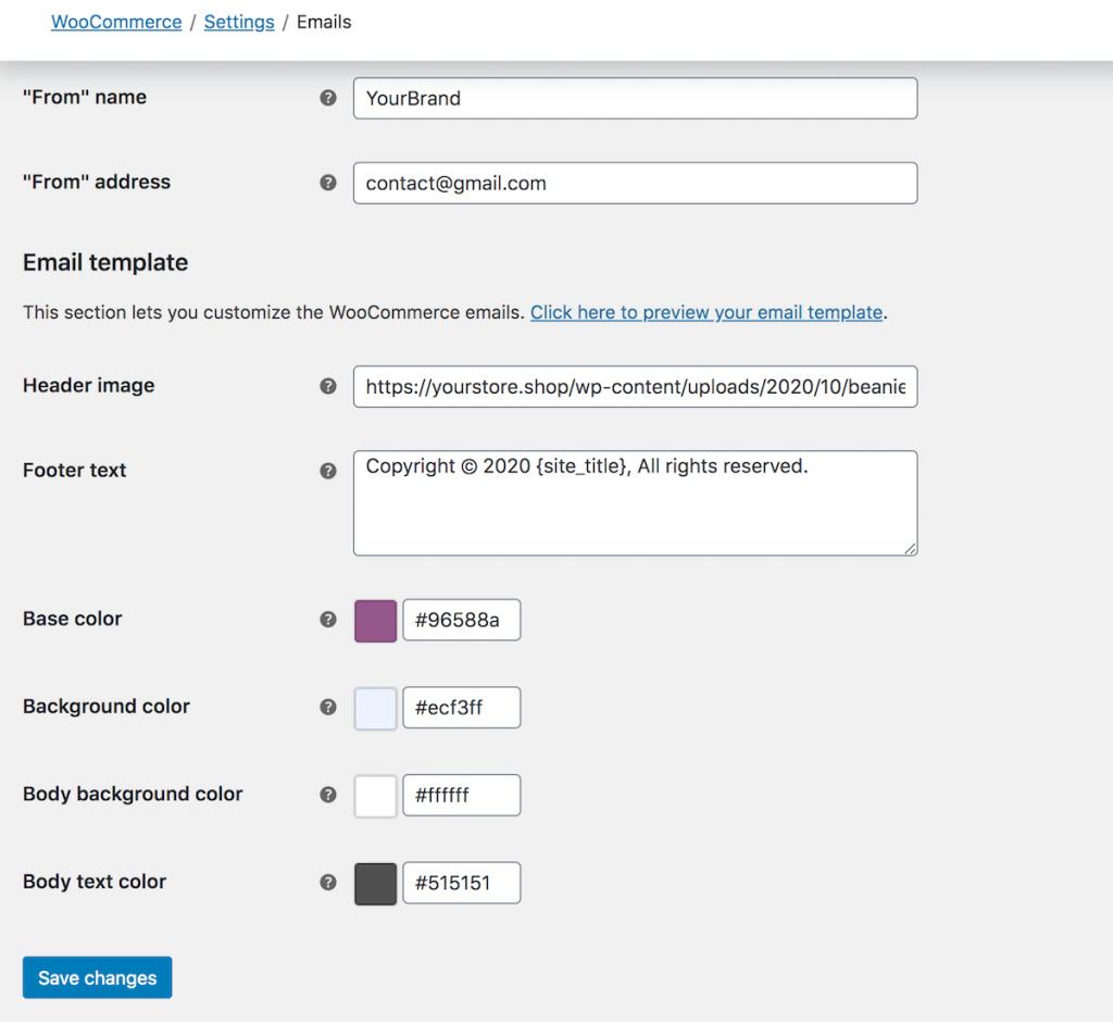woocommerce email template basic customization