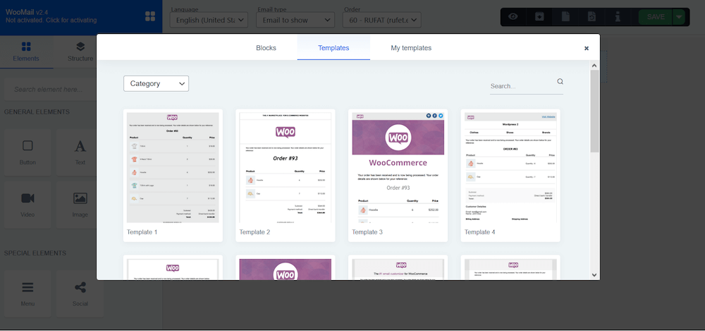 WooMail templates for WooCommerce transactions