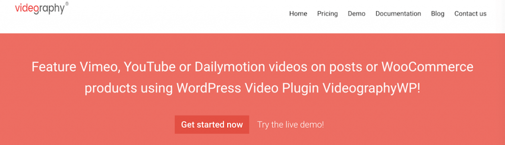 videographywp plugin introduction