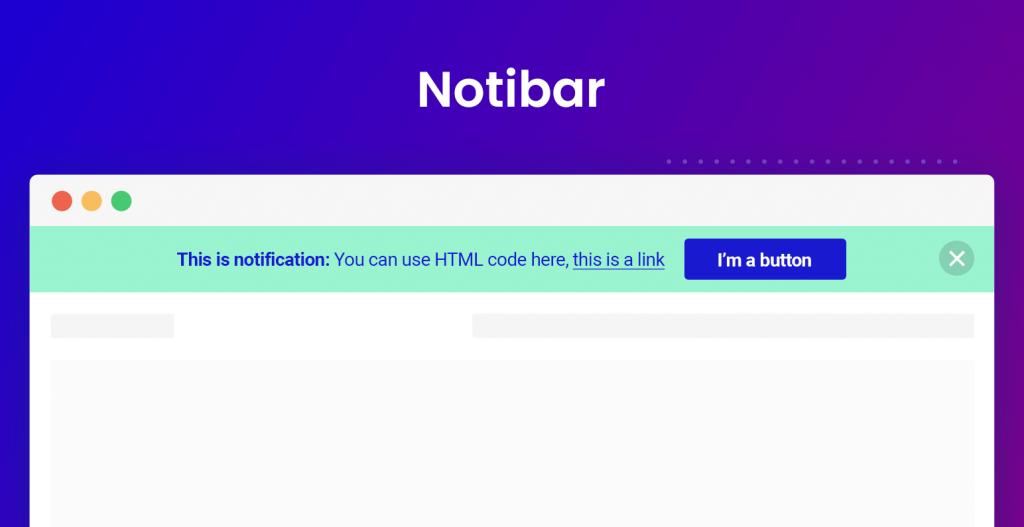 WordPress notification bar banner plugin