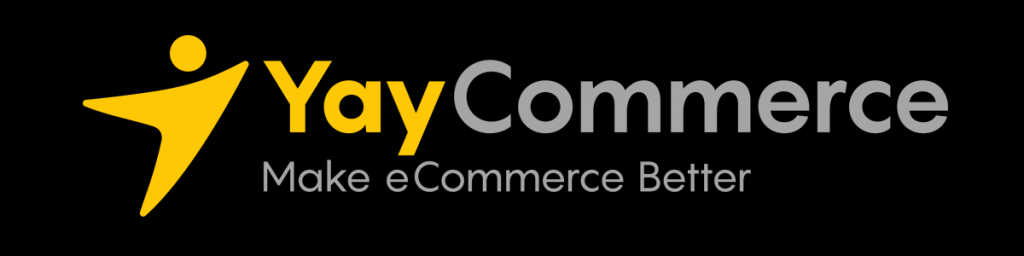 yaycommerce logo on a dark background