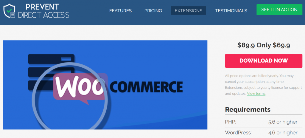 Prevent Direct Access for WooCommerce digital products
