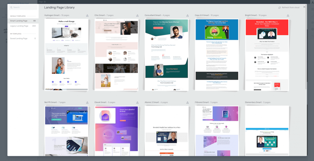Thrive Architect Templates - Landing Page Library