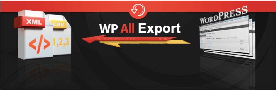 WP All Export - Export any WordPress Data to XML, CSV