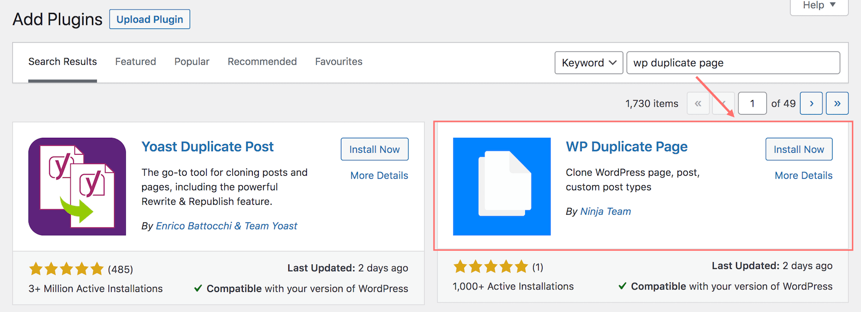 wp duplicate page plugins