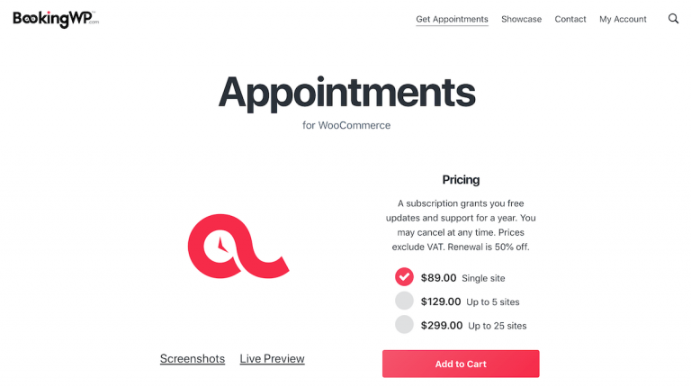 BookingWP Appointments for WooCommerce