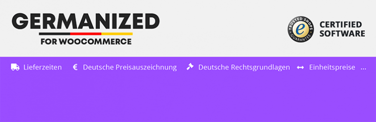 Germanized plugin for WooCommerce