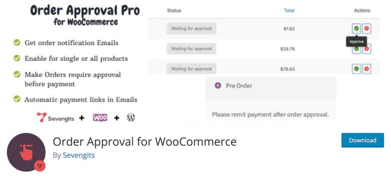 SG WooCommerce Order Approval