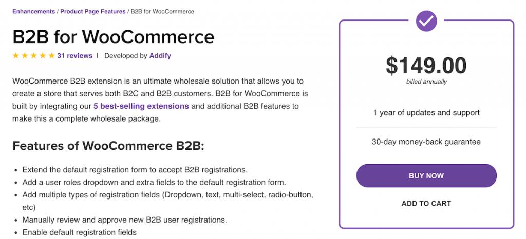 B2B for WooCommerce by Addify