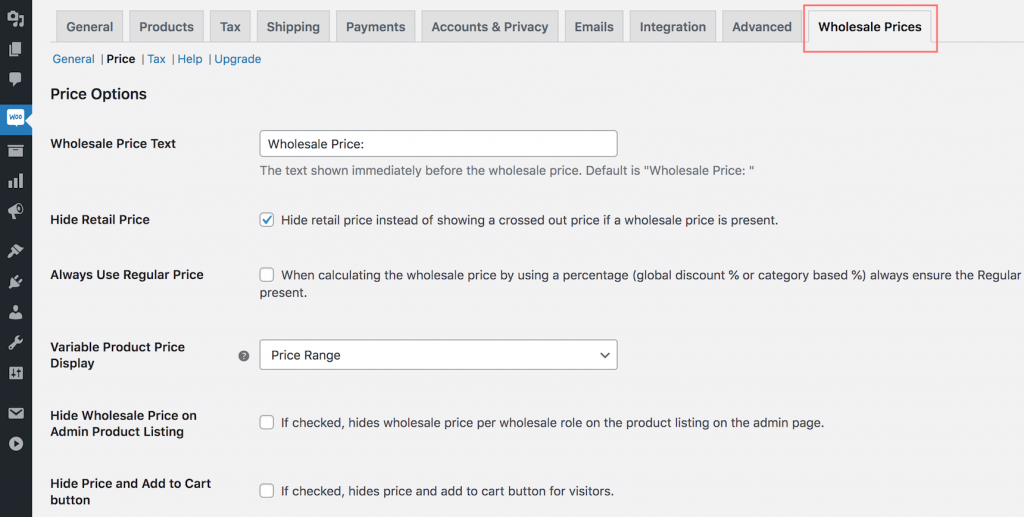 Wholesale prices for WooCommerce