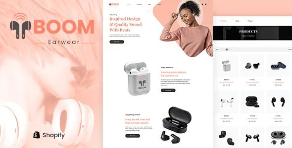 Boom - single product Shopify theme on Themeforest