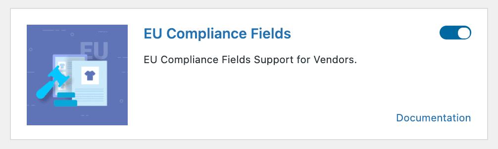 Enable EU compliance fields in Dokan admin dashboard
