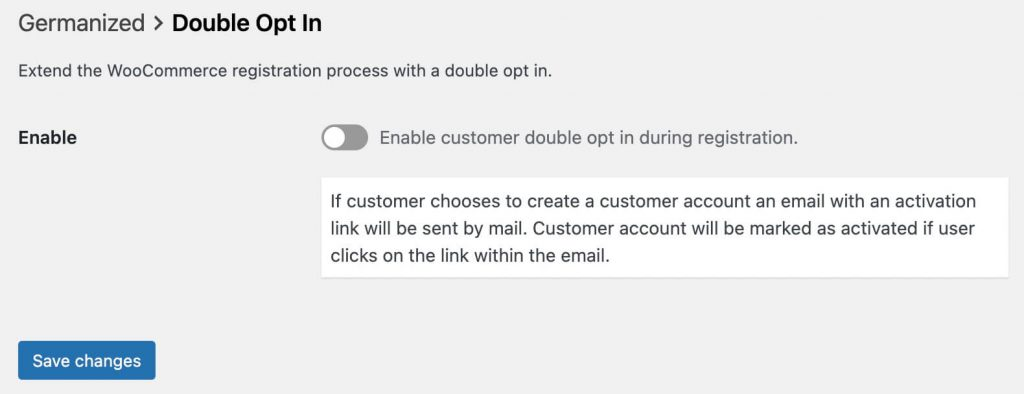 Germanized disable double opt in
