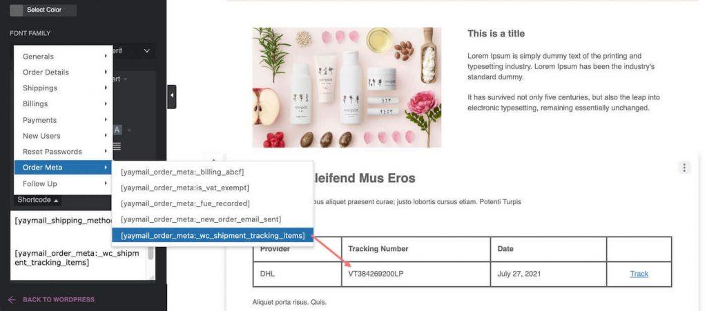 shipment tracking shortcode