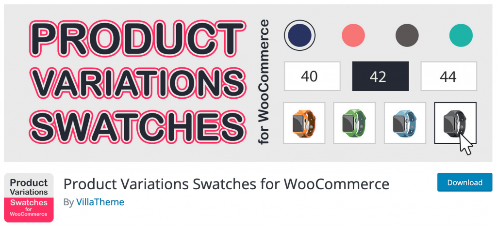 Product Variations Swatches for WooCommerce by Villatheme