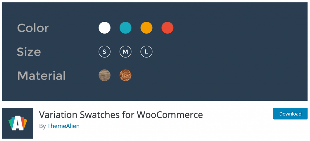 Variation Swatches for WooCommerce by ThemeAlien
