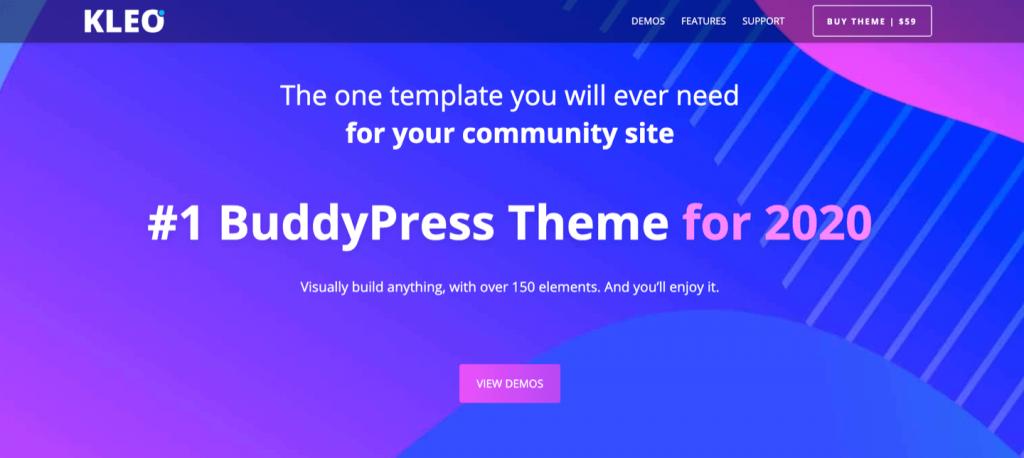 KLEO Buddypress wordpress theme